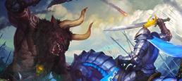 Логотип игры «Рыцари: Битва Героев»