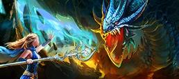 Логотип игры «Dragon Knight»